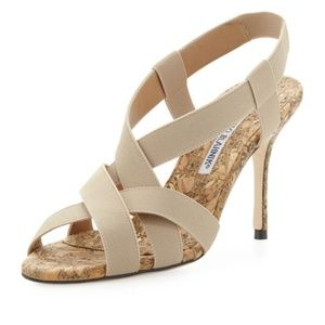 Manolo Blahnik Lasti Cork Stretch Sandal, 10